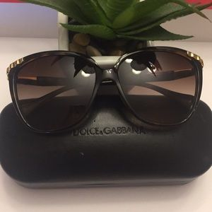 Authentic DOLCE & GABBANA Brown Ladies Sunglasses